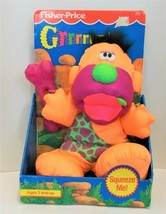 1991 Fisher Price GRRRRUNTS Grunts Caveman Plush Orange Vintage New Sounds - $33.00