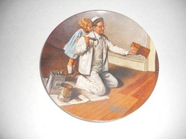 Norman Rockwell The Painter 8-1/2 inch Collector Knowles Limited Ed. Pla... - $14.01