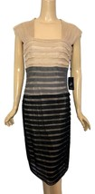 Adrianna Papell Color Blocked Mesh Dress  size 8 NWT - $92.00