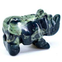 Kambaba Jasper Gemstone Miniature Rhinoceros Rhino Figurine Hand Carved in China image 4