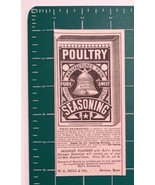 1889 Bell Poultry Seasoning Advertisement Boston, Mass. - $24.00