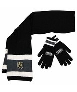 NHL Vegas Golden Knights Knit Scarf and Glove Gift  Set VGK Officially L... - $19.88