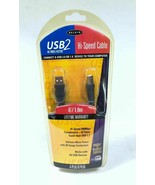 Belkin USB 2 Hi Speed Cable 6 FT A Plug B Plug F3U133-06 - $10.00
