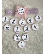 Monthly Milestone Marker Baby Headband Hand Crafted! - $25.00