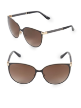 NEW Jimmy Choo Posie Crystal Temple Luxe Navy Round Sunglasses Retail $390 - $185.77