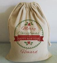 Buythrow® Personalized Christmas Santa Sack Merry Christmas Large Gifts ... - $32.40