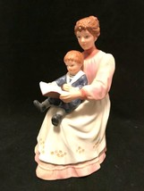 HOMCO Figurine 8858 Story Time Mother Reading to Son Porcelain 7 inches Tall - $34.64