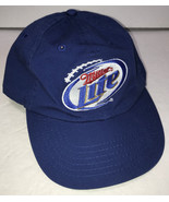 Miller Lite Beer Adjustable Hat Men's Baseball Cap Blue OSFA - $14.69
