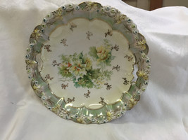 Vintage S & T RS Germany Lusterware Bowl w/ Yellow Flowers & Handles - $76.44