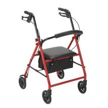 Drive Medical Steel Walker Rollator with 8'' Wheels-Red - $73.65