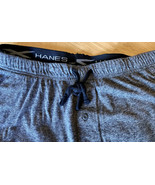 Hanes Mens Lightweight Pajamas Sweatpants X TECH size Medium Gray Black NWT - $18.00