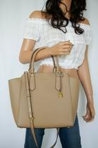 Nwt Michael Kors Hayes Large Pbbled Leather Tote Shoulder Bag Dark Kharki - $103.83