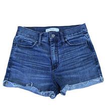Abercrombie & Fitch Women's Cutoff Cuff Denim Jean Shorts Size 2 W26 - $19.79