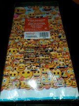 "UNIQUE Emoji Party Plastic Table Cover [54"" × 84""] NEW IN PACKAGE  - $8.86"
