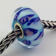 Authentic Trollbeads Ooak Murano Glass Unique Bead Charm #215, 15mm Diameter New - $33.24