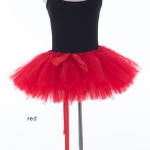 WOMEN MINI TUTU Skirt Drawstring Waist Solid Color Mini Petticoats Ballet Skirts image 13