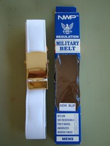 Usn Us Navy All Ranks Rates E7-E9 Cpo & Officers White Belt With Gold Buckle Xl - $24.70