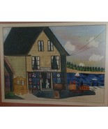 Hilda Kaihlanen Watercolor Port Clyde General Store Matted & Framed Folk... - $135.00
