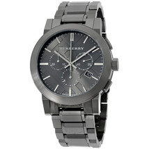 Burberry BU9354 The City Large Check Ion Plated  Chronograph 42mm - 2 years warr - $330.00