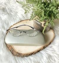 Nine West Eyeglasses Frames Glasses Rx Women's Blue Half Rim Round Metal 48 0C6B - $20.60