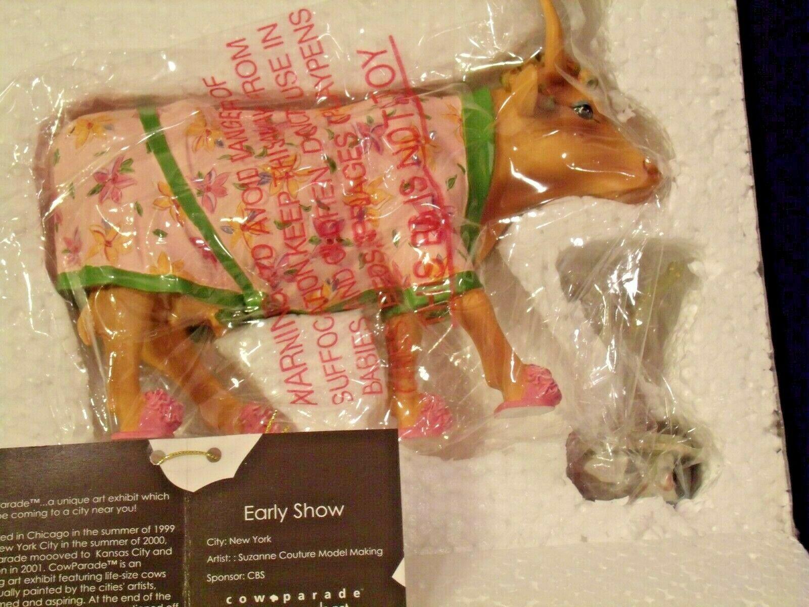 CowParade Early Show Westland Giftware # 9129 AA-191927 Collectible (Resin)
