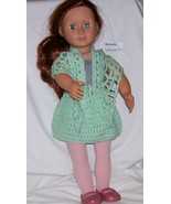 American Girl 2 Piece Outfit, Handmade, Crochet, Shawl, Skirt, 18 Inch Doll - $15.00