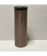 Starbucks LE Stainless Troy Hammered Rose Gold Tumbler 16oz 2012  READ!! - $23.38
