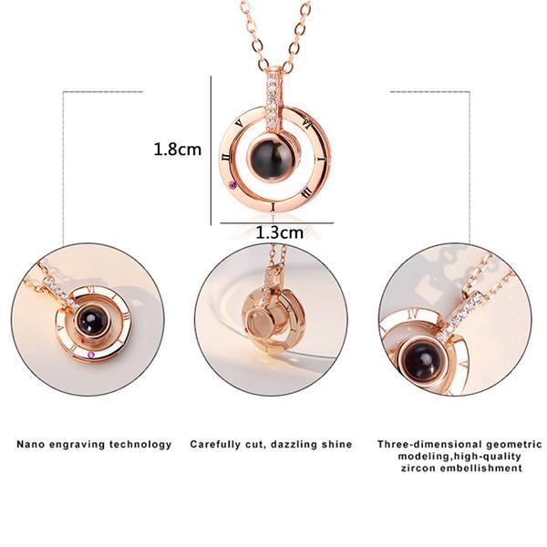 "XUFAN Romantic Projection (""I Love You"") Ladies Pendant - Various Styles, CZ image 5"