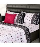 Grey Oxford Shapes Sheet Set KING SIZE 4PCS Sheets and Pillowcases - $80.18
