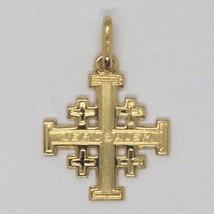 Pendentif Croix De Jérusalem, or Jaune 750 18K, Finement Travaillé image 2