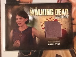 Walking Dead Season 2 Wardrobe Card M23 Maggie Greene Purple Top - $40.59
