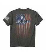 No Apologies Flag American Nationalistic USA Patriotic Adult T Tee Shirt... - $19.99+