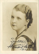1920's American Opera Singer Marion Talley 5x7 Photo INSCRIBED BY MARION... - $95.00