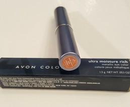 Avon Ultra Moisture Rich Metallic Eye Color PEACH Eye Shadow Stick NEW Retired. - $12.85