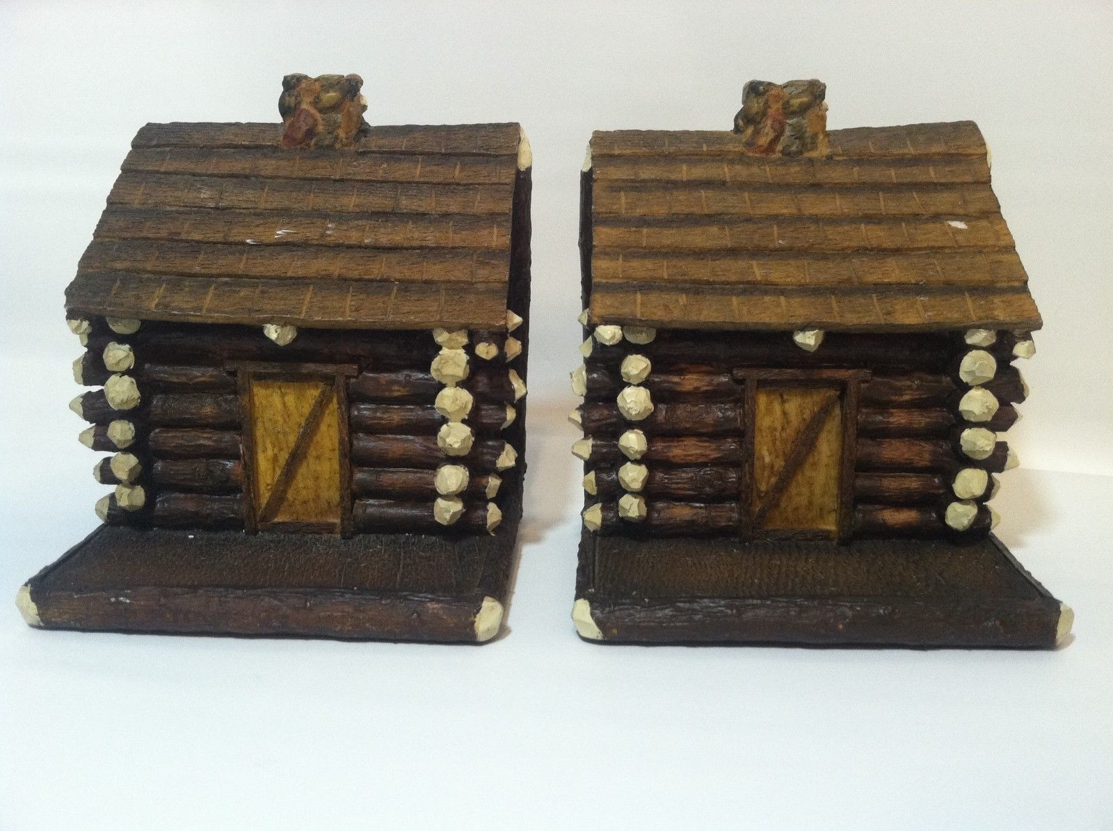 Demdaco big sky carvers book ends log cabin house fall for Log home books