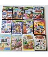 12 Childrens DVDs Backyardigans Veggie Tales Roary Race Car Super Spy Ha... - $24.99