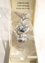 Neiman Marcus Dove Of Peace Silver Plated Wine Bottle Stopper Sealed IOB - $39.99