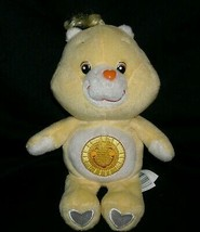 "8"" FUNSHINE YELLOW CARE BEAR STUFFED ANIMAL PLUSH TOY 2002 SUNSHINE DOLL... - $10.76"