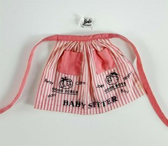 Barbie 953 Pink & White Babysitter Apron 1963 Original Clothing - $6.92