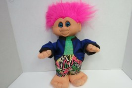 """Vintage 1992 Ganz Troll Doll With 1980s Cloths Pink Hair 14"""" Tall - $19.00"""
