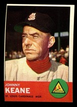 1963 Topps #166 Johnny Keane NRMT Cardinals *2329* - $3.50