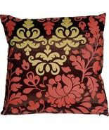 Pillow Decor - Bohemian Damask Brown, Red and Ocher Throw Pillow - $36.95