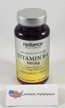Radiance Platinum Vitamin B-6 100mg, 100 Tablets  VEGETARIAN/VEGAN - Exp... - $5.15
