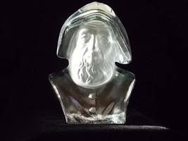 Viking Art Glass Crystal Satin Sea Captain Paperweight #7878, Flatback G... - $52.00