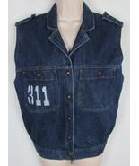 VTG Levis Juniors jean jacket Vest denim sleeveless 90s Era Womens Size M - $32.62