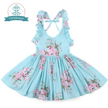 Baby Girls Dress Brand Summer Beach Style Floral Print Party Backless Dresses Fo - $18.00