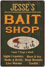 JESSE'S Green Bait Shop Man Cave Wall Decor Gift Metal Sign 112180027092 - $18.95+