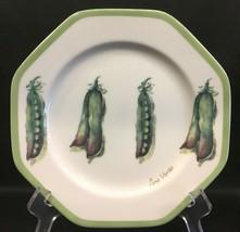 "Williams Sonoma Vegetable Garden Green Peas 8"" Salad Plate - $9.99"