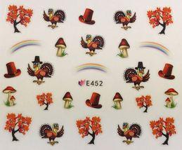 BANG STORE Nail Art 3D Decal Stickers Thanksgiving Turkey Tree Rainbow M... - $3.67