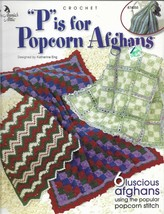 """Crochet Pattern Booklet-""""P"""" is for Popcorn Afghans-6 Afghans Projects  - $7.66"""